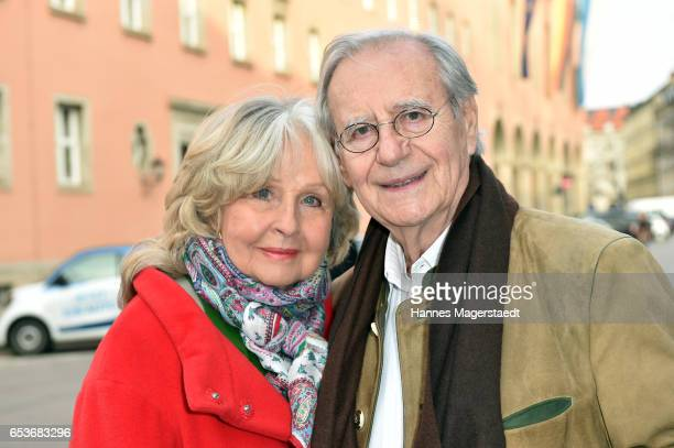 Actor Wilfried Klaus and wife Wera Klaus during the NdF after work press cocktail at Parkcafe on March 15 2017 in Munich Germany