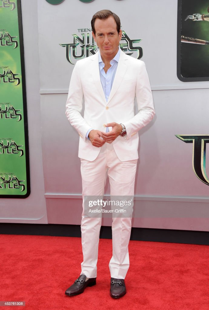 Actor <a gi-track='captionPersonalityLinkClicked' href=/galleries/search?phrase=Will+Arnett&family=editorial&specificpeople=209259 ng-click='$event.stopPropagation()'>Will Arnett</a> arrives at the Los Angeles Premiere of 'Teenage Mutant Ninja Turtles' at Regency Village Theatre on August 3, 2014 in Westwood, California.