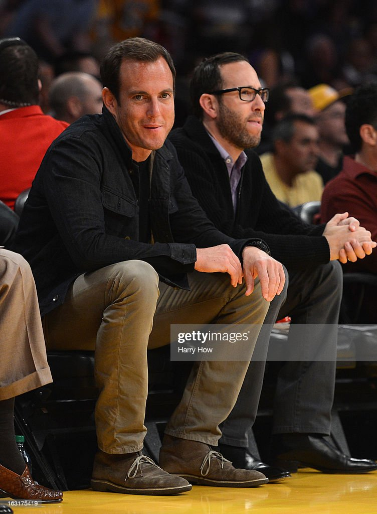 Actor Will Arnett smiles courtside during the game between the Minnesota Timberwolves and the Los Angeles Lakers at Staples Center on February 28, 2013 in Los Angeles, California.