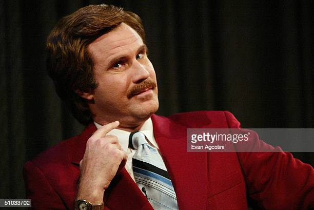 Actor Will Ferrell aka Ron Burgundy participates in QA after a special screening of the film 'Anchorman The Legend of Ron Burgundy' at the Museum of...