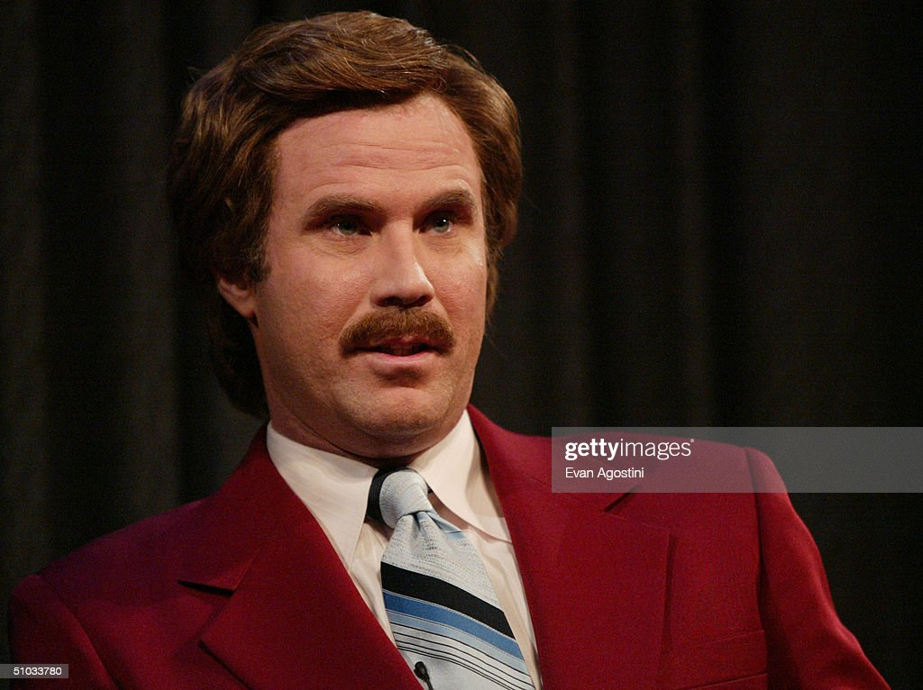 Actor Will Ferrell aka Ron Burgundy participates in Q&A after a special screening of the film 'Anchorman: The Legend of Ron Burgundy' at the Museum of Television and Radio July 7, 2004 in New York City.