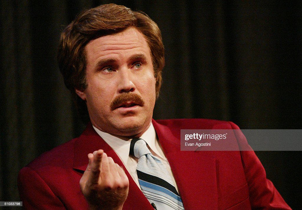 Actor <a gi-track='captionPersonalityLinkClicked' href=/galleries/search?phrase=Will+Ferrell&family=editorial&specificpeople=171995 ng-click='$event.stopPropagation()'>Will Ferrell</a> aka Ron Burgundy participates in Q&A after a special screening of the film 'Anchorman: The Legend of Ron Burgundy' at the Museum of Television and Radio July 7, 2004 in New York City.