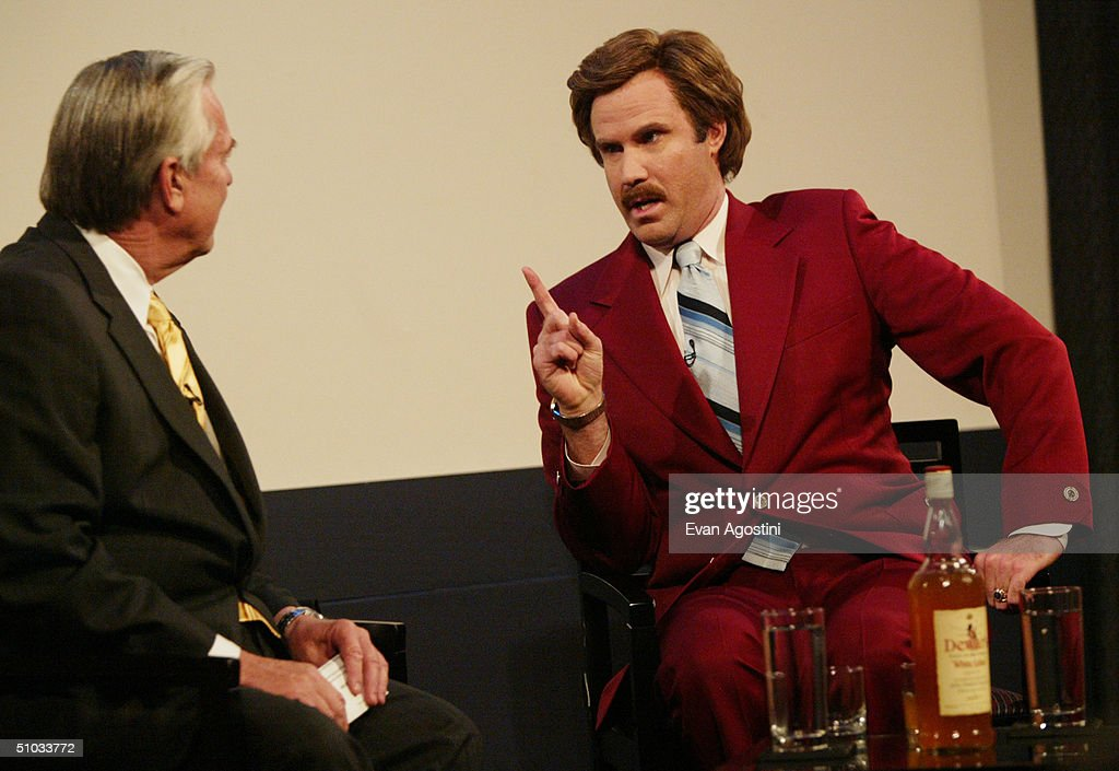 Actor Will Ferrell aka Ron Burgundy participates in QA with moderator Bill Kurtis after a special screening of the film 'Anchorman The Legend of Ron...