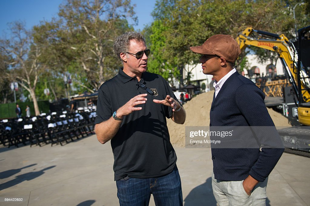 Actor Will Ferrell and Calen Carr attend the Los Angeles Football Club stadium groundbreaking ceremony on August 23 2016 in Los Angeles California
