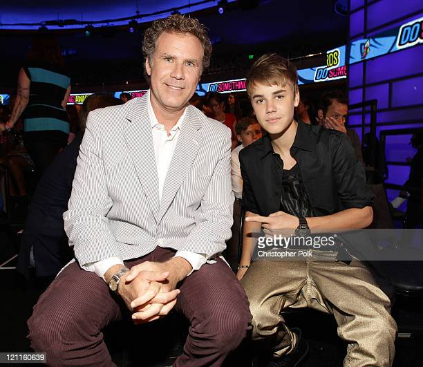 Actor Will Ferrell and musician Justin Bieber attends the 2011 VH1 Do Something Awards at the Hollywood Palladium on August 14 2011 in Hollywood...