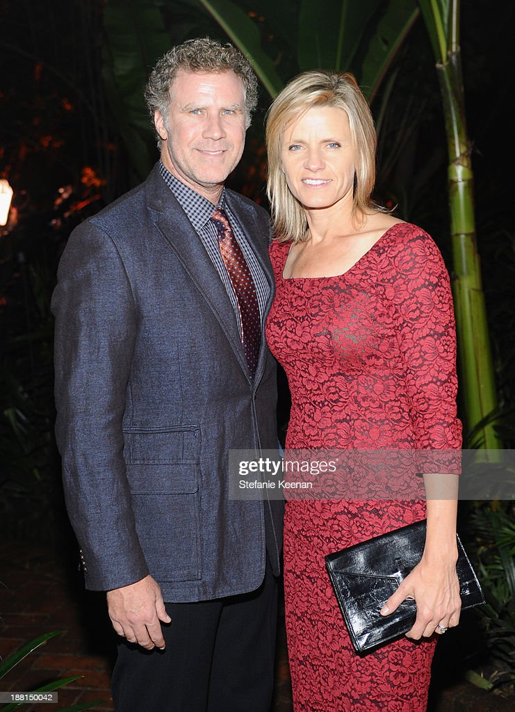 Actor Will Ferrell and Viveca Paulin Ferrell attend Museo Jumex Opening welcome dinner at Casa De La Bola on November 15, 2013 in Mexico City, Mexico.