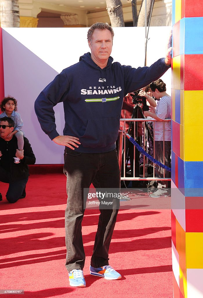 Actor <a gi-track='captionPersonalityLinkClicked' href=/galleries/search?phrase=Will+Ferrell&family=editorial&specificpeople=171995 ng-click='$event.stopPropagation()'>Will Ferrell</a> arrives at the Los Angeles premiere of 'The Lego Movie' held at Regency Village Theatre on February 1, 2014 in Westwood, California.