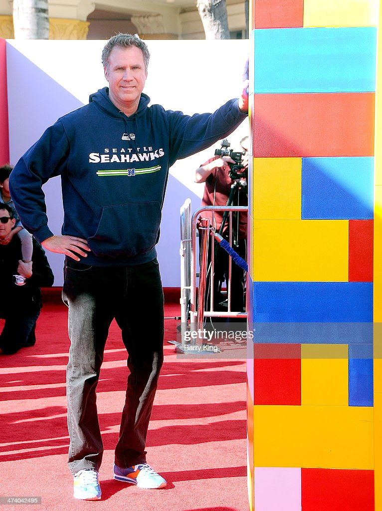 Actor <a gi-track='captionPersonalityLinkClicked' href=/galleries/search?phrase=Will+Ferrell&family=editorial&specificpeople=171995 ng-click='$event.stopPropagation()'>Will Ferrell</a> arrives at the Los Angeles premiere of 'The Lego Movie' held on February 1, 2014 at Regency Village Theatre in Westwood, California.