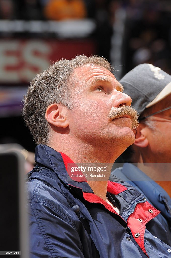 Actor Will Ferrell attends a game between the Utah Jazz and the Los Angeles Lakers at Staples Center on January 25, 2013 in Los Angeles, California.