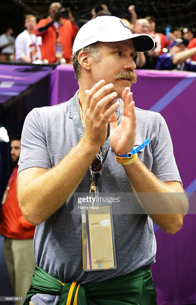 Actor Will Ferrell attends Super Bowl XLVII between the San Francisco 49ers and the Baltimore Ravens at the Mercedes-Benz Superdome on February 3, 2013 in New Orleans, Louisiana.