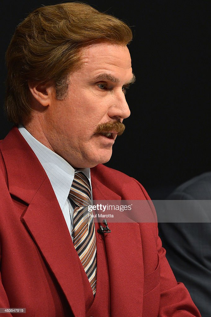 Actor Will Ferrell in character as Ron Burgundy answers questions from press and Emerson College students as Emerson College renames the School of...