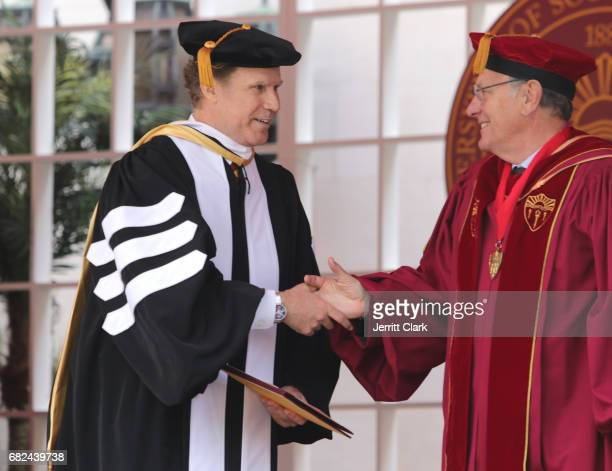 Actor Will Ferrell is presented with an Honorary Doctorate Degree during the University Of Southern California 134th Commencement Ceremonies at The...