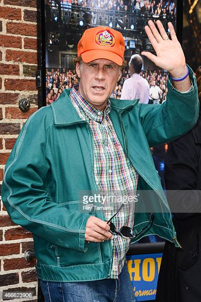 Actor Will Ferrell leaves the 'Late Show With David Letterman' taping at the Ed Sullivan Theater on March 17 2015 in New York City