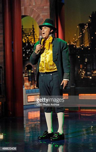Actor Will Ferrell sings a song while dressed as a leprechaun in honor of St Patrick's day on the Late Show with David Letterman Tuesday March 17...