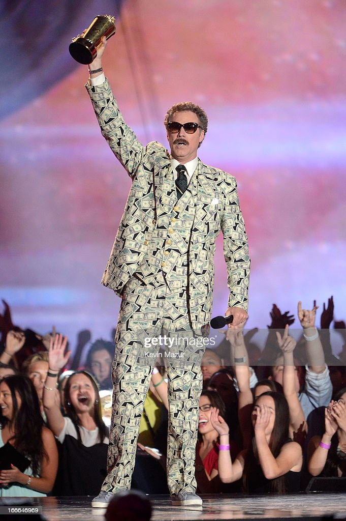 Actor Will Ferrell speaks onstage during the 2013 MTV Movie Awards at Sony Pictures Studios on April 14, 2013 in Culver City, California.