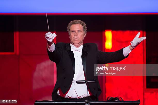 Actor Will Ferrell speaks onstage during the 2016 American Film Institute Life Achievement Awards Honoring John Williams at Dolby Theatre on June 9...
