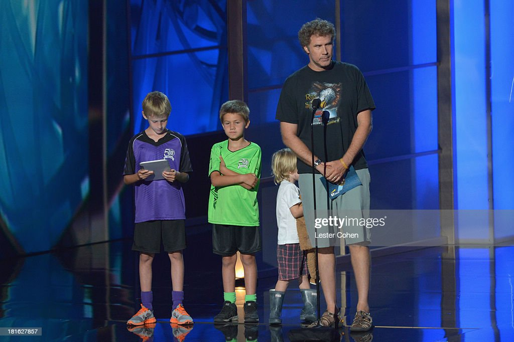 Actor <a gi-track='captionPersonalityLinkClicked' href=/galleries/search?phrase=Will+Ferrell&family=editorial&specificpeople=171995 ng-click='$event.stopPropagation()'>Will Ferrell</a> speaks onstage during the 65th Annual Primetime Emmy Awards held at Nokia Theatre L.A. Live on September 22, 2013 in Los Angeles, California.
