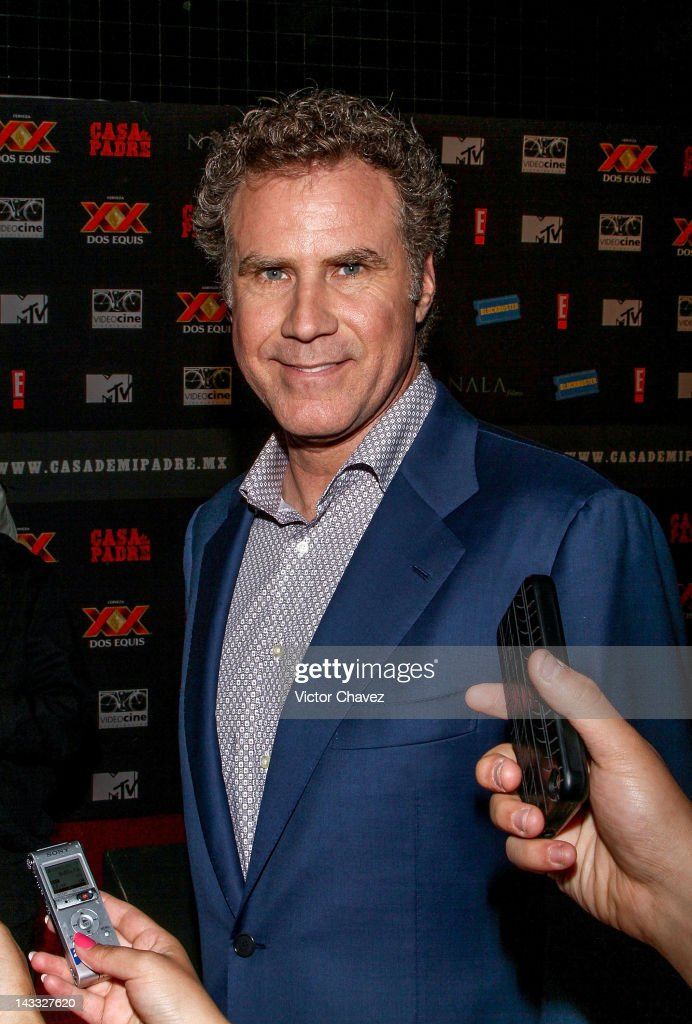 Actor <a gi-track='captionPersonalityLinkClicked' href=/galleries/search?phrase=Will+Ferrell&family=editorial&specificpeople=171995 ng-click='$event.stopPropagation()'>Will Ferrell</a> speaks with the press during the 'Casa De Mi Padre' Mexico City premiere at the Teatro Metropolitan on April 23, 2012 in Mexico City, Mexico.