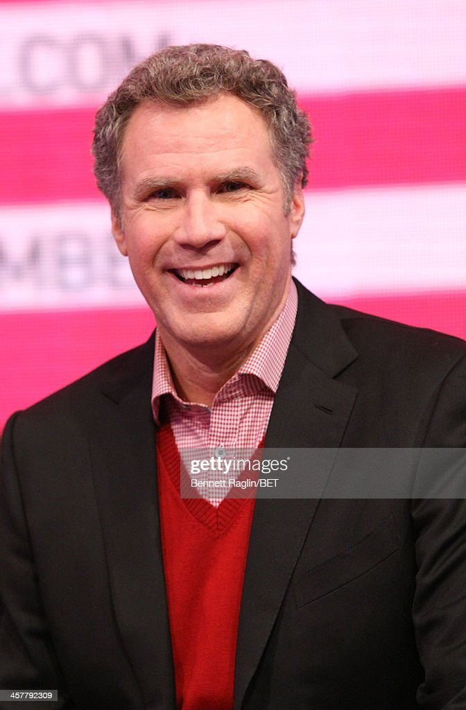 Actor <a gi-track='captionPersonalityLinkClicked' href=/galleries/search?phrase=Will+Ferrell&family=editorial&specificpeople=171995 ng-click='$event.stopPropagation()'>Will Ferrell</a> visits 106 & Park at BET studio on December 17, 2013 in New York City.