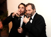 Actor Will Forte and director/writer Judd Apatow attend the 16th Costume Designers Guild Awards with presenting sponsor Lacoste at The Beverly Hilton...