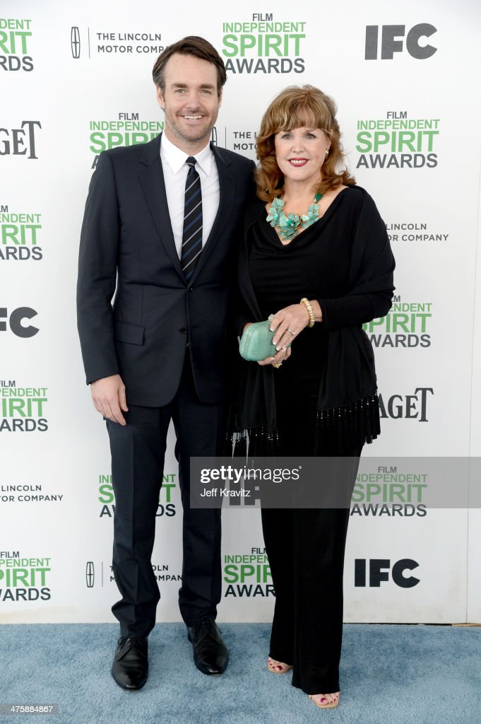 Actor <a gi-track='captionPersonalityLinkClicked' href=/galleries/search?phrase=Will+Forte&family=editorial&specificpeople=2155213 ng-click='$event.stopPropagation()'>Will Forte</a> and Guest attend the 2014 Film Independent Spirit Awards on March 1, 2014 in Santa Monica, California.