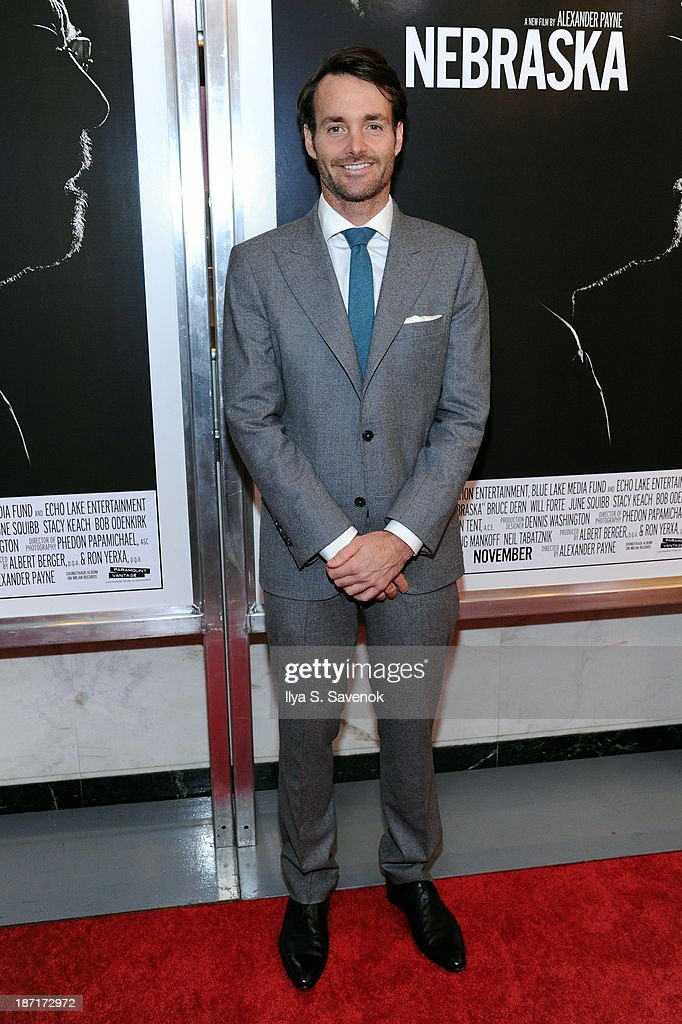 Actor <a gi-track='captionPersonalityLinkClicked' href=/galleries/search?phrase=Will+Forte&family=editorial&specificpeople=2155213 ng-click='$event.stopPropagation()'>Will Forte</a> attends the 'Nebraska' special screening at Paris Theater on November 6, 2013 in New York City.