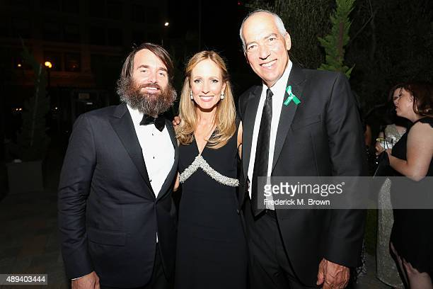 Actor Will Forte Dana Walden Chairman and CEO Fox Television Group and Gary Newman Chairman and CEO Fox Television Group attend the 67th Primetime...