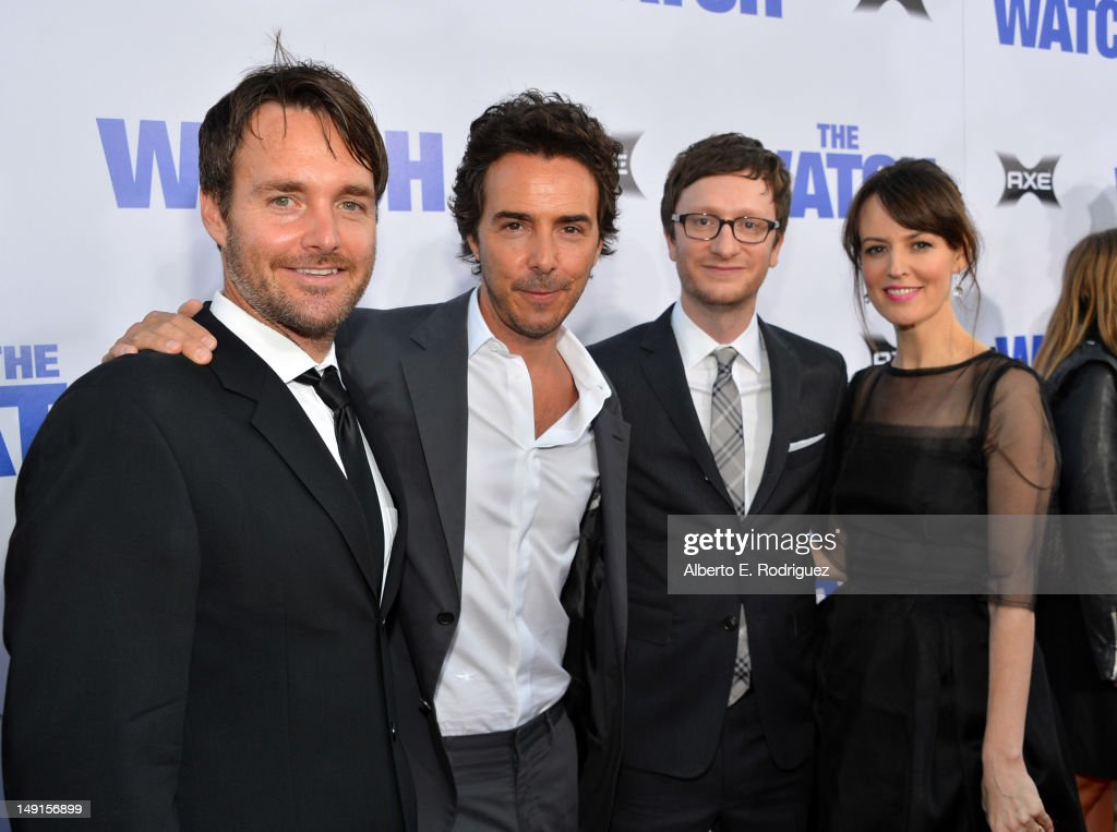 Actor <a gi-track='captionPersonalityLinkClicked' href=/galleries/search?phrase=Will+Forte&family=editorial&specificpeople=2155213 ng-click='$event.stopPropagation()'>Will Forte</a>, producer <a gi-track='captionPersonalityLinkClicked' href=/galleries/search?phrase=Shawn+Levy&family=editorial&specificpeople=832128 ng-click='$event.stopPropagation()'>Shawn Levy</a>, director Akiva Schaffer, and actress <a gi-track='captionPersonalityLinkClicked' href=/galleries/search?phrase=Rosemarie+DeWitt&family=editorial&specificpeople=630212 ng-click='$event.stopPropagation()'>Rosemarie DeWitt</a> arrive at the premiere of Twentieth Century Fox's 'The Watch' at Grauman's Chinese Theatre on July 23, 2012 in Hollywood, California.