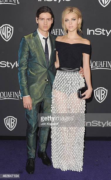 Actor Will Peltz and sister actress Nicola Peltz arrive at the 16th Annual Warner Bros And InStyle PostGolden Globe Party at The Beverly Hilton Hotel...