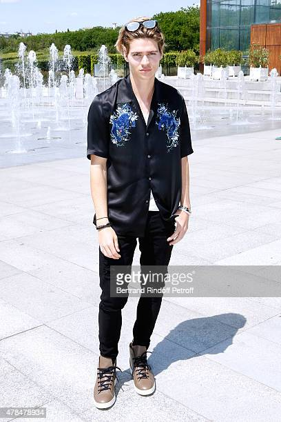 Actor Will Peltz attends the Louis Vuitton Menswear Spring/Summer 2016 show as part of Paris Fashion Week on June 25 2015 in Paris France