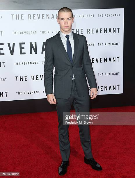 Actor Will Poulter attends the premiere of 20th Century Fox and Regency Enterprises' 'The Revenant' at the TCL Chinese Theatre on December 16 2015 in...