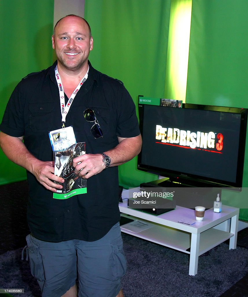 Actor Will Sasso plays Xbox One at Comic-Con 2013 at the Hard Rock Hotel San Diego on July 19, 2013 in San Diego, California.
