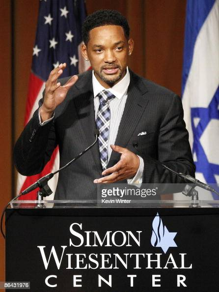Actor Will Smith accepts the Humanitarian Award at the Simon Wiesenthal Center's Annual National Tribute Dinner at the Beverly Wilshire Hotel on May...