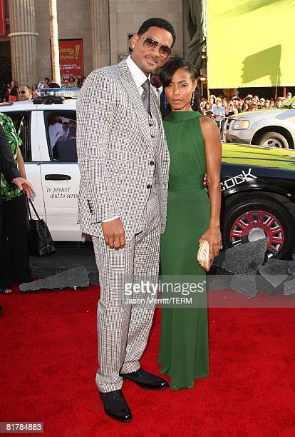Actor Will Smith actress Jada Pinkett Smith and family arrive to the Premiere of Sony Pictures' 'Hancock' at Grauman's Chinese Theatre on June 30...
