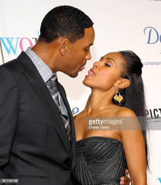 Actor Will Smith and actress Jada Pinkett Smith arrive at Picturehouse's premiere of 'The Women' at Mann Village Theater on September 4 2008 in Los...