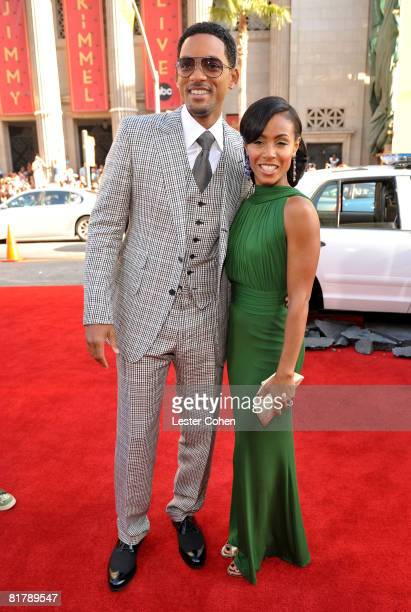 Actor Will Smith and actress Jada Pinkett Smith arrive at the World Premiere of Columbia Pictures 'Hancock' at Grauman's Chinese Theatre on July 30...