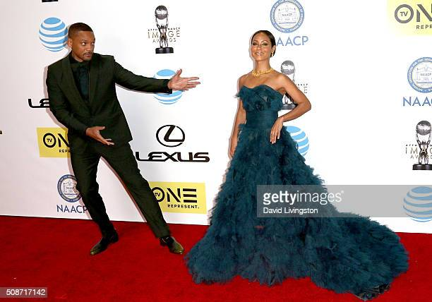 Actor Will Smith and actress Jada Pinkett Smith attend the 47th NAACP Image Awards presented by TV One at Pasadena Civic Auditorium on February 5...