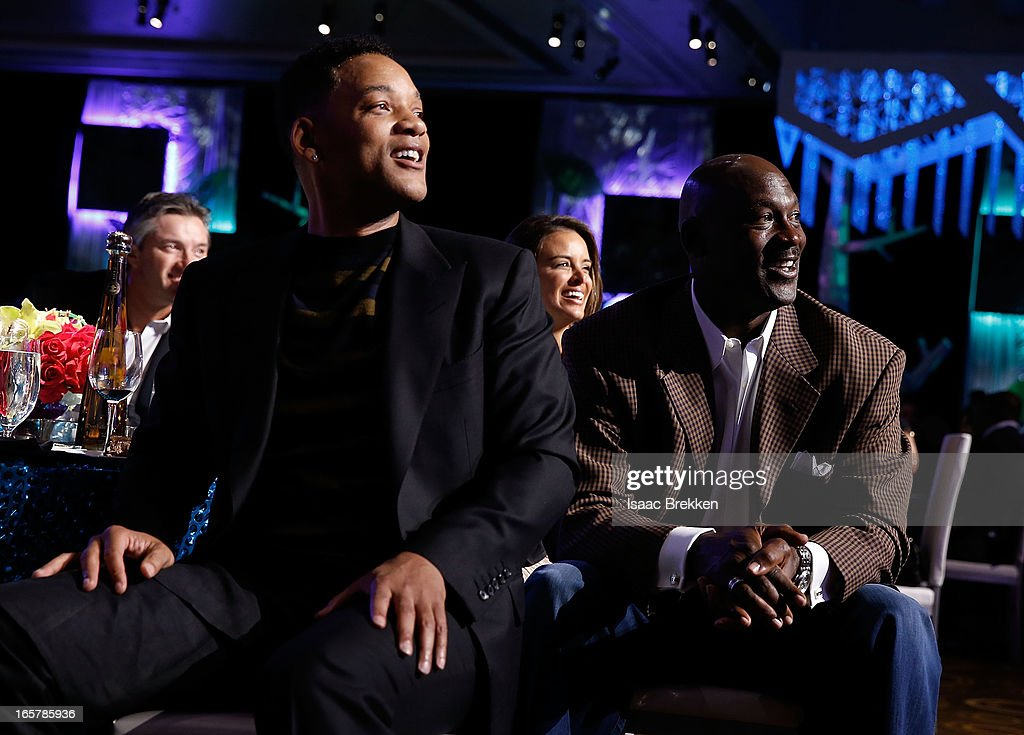 Actor Will Smith (L) and Charlotte Bobcats owner Michael Jordan attend the 12th Annual Michael Jordan Celebrity Invitational Gala At ARIA Resort & Casino on April 5, 2013 in Las Vegas, Nevada.