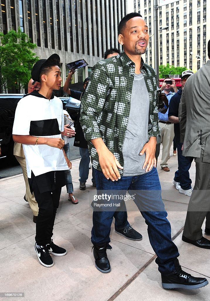 Actor Will Smith(R) and Jaden Smith are seen outside Sirius Radio on May 30, 2013 in New York City.