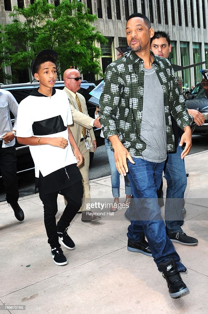 Actor Will Smith (R) and Jaden Smith are seen outside Sirius Radio on May 30, 2013 in New York City.