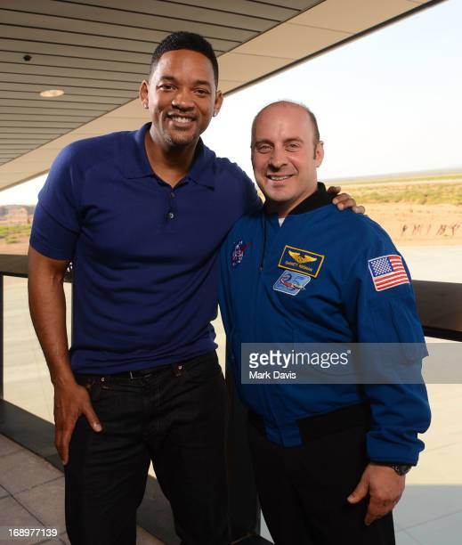 Actor Will Smith and NASA astronaut Garrett Reisman attend Colombia Pictures' 'After Earth' Press Junket at Spaceport America on May 17 2013 in Truth...