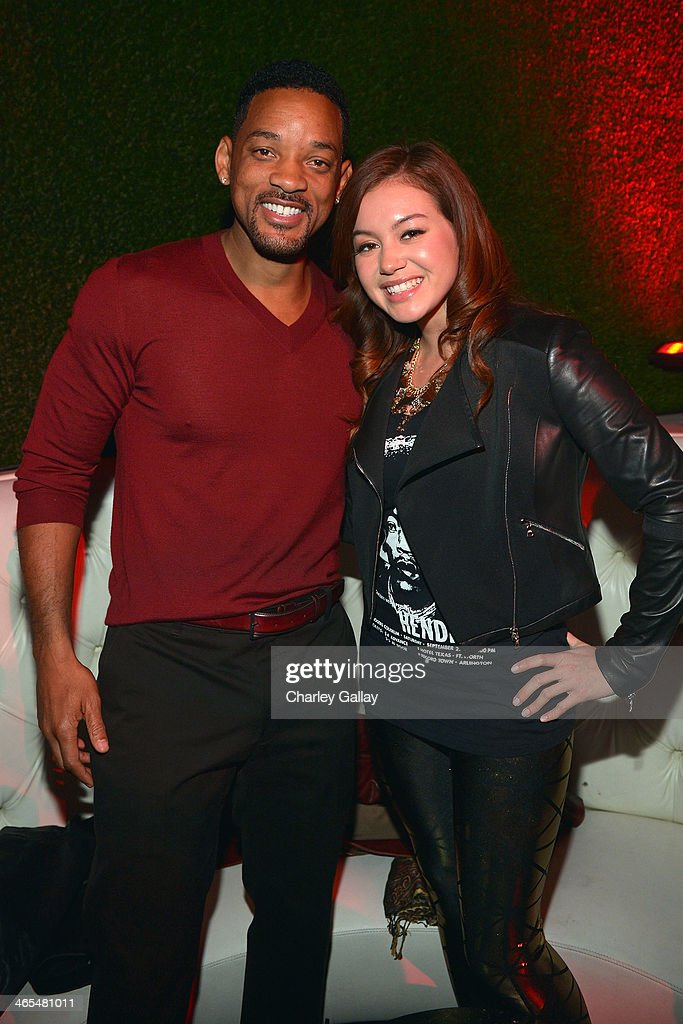 Actor Will Smith and recording artist Guinevere attend Award Winning R&B Recording Artist Ne-Yo and Malibu Red Host the annual midnight grammy brunch at Lure Nightclub on January 26, 2014 in Hollywood, California.