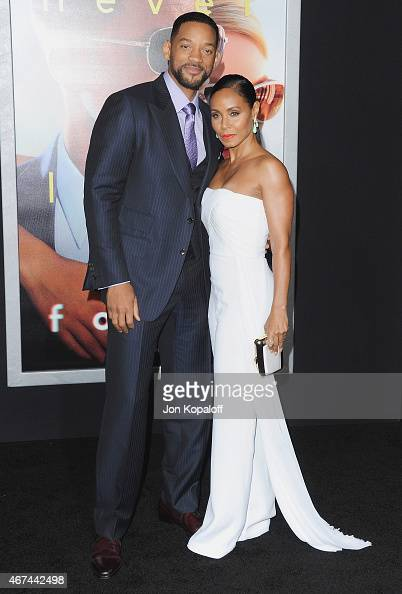 Actor Will Smith and wife actress Jada Pinkett Smith arrive at the Los Angeles Premiere 'Focus' at TCL Chinese Theatre on February 24 2015 in...