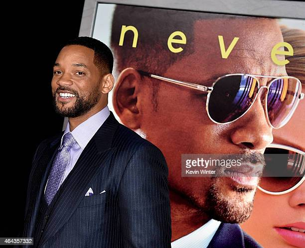 Actor Will Smith arrives at the premiere of Warner Bros Pictures' 'Focus' at the Chinese Theatre on February 24 2015 in Los Angeles California