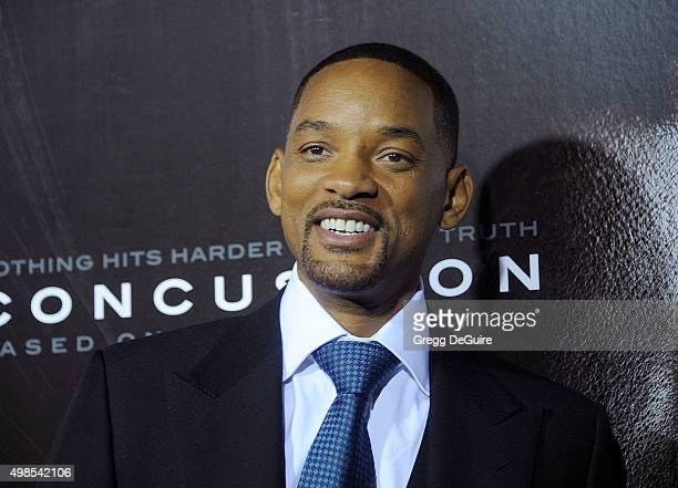 Actor Will Smith arrives at the screening of Columbia Pictures' 'Concussion' at Regency Village Theatre on November 23 2015 in Westwood California