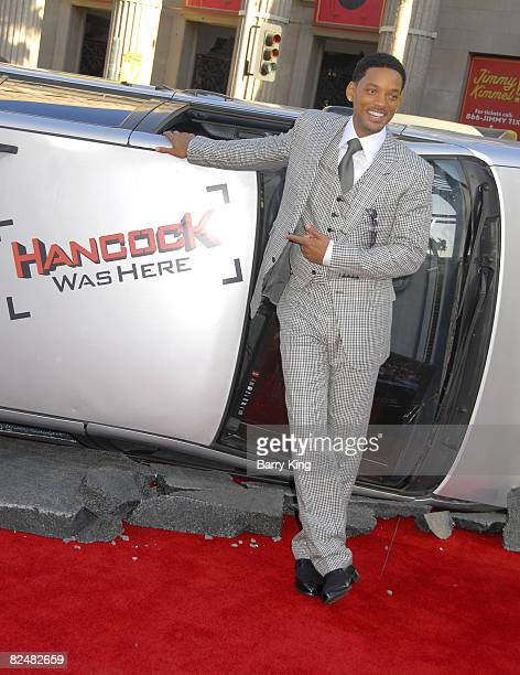 Actor Will Smith arrives at The World Premiere of Columbia Pictures' 'Hancock' at the Grauman's Chinese Theatre on June 30 2008 in Hollywood...