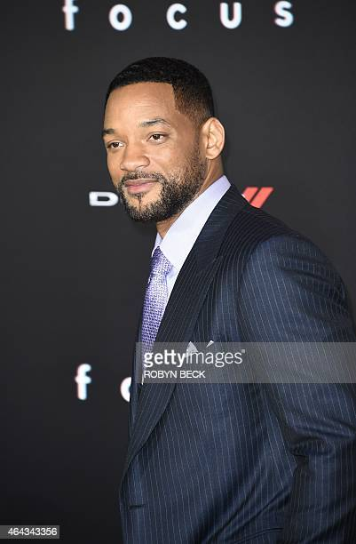 Actor Will Smith arrives for the Los Angeles premiere of Warner Bros 'Focus' February 24 2015 at TCL Chinese Theater in Hollywood California AFP...