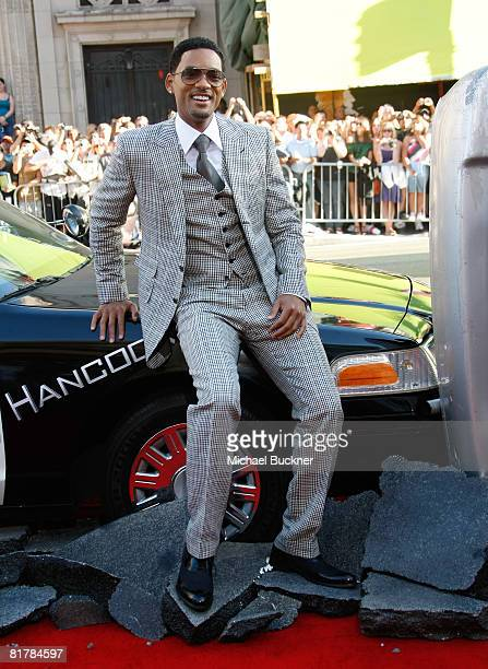 Actor Will Smith arrives to the Premiere of Sony Pictures' 'Hancock' at Grauman's Chinese Theatre on June 30 2008 in Hollywood California
