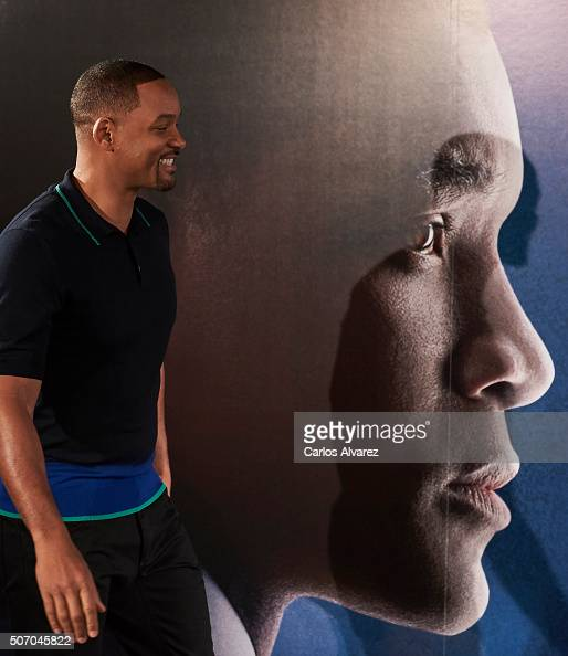 Actor Will Smith attends Concussion photocall at the Villamagna Hotel on January 27 2016 in Madrid Spain