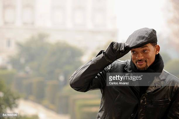 Actor Will Smith attends 'Seven Pounds' photocall at Teatro Real on January 13 2009 in Madrid Spain